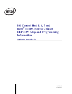 I/O Control Hub 5, 6, 7 and Intel(r) NM10 Express Chipset  EEPROM Map and Programming Information Application Note (AP-478)
