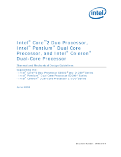Intel® Dual-Core Processors: Thermal Design