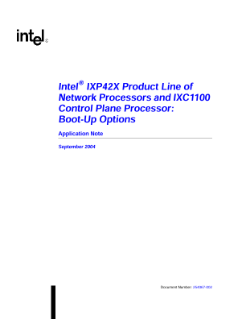IXP42X Product Line Boot-up Options: Application Note