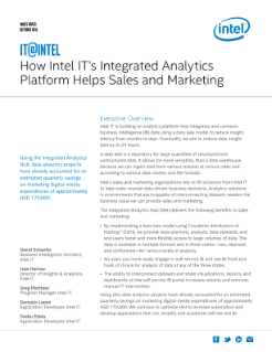 Intel's Integrated Analytics Platform Helps Sales and Marketing
