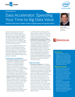 Data Accelerator: Speeding to Big Data Value with Apache Hadoop*