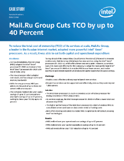 Mail.Ru Group Cloud Service Provider Case Study