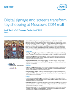 Digital signage & screens transform toy shopping at Moscow's mall