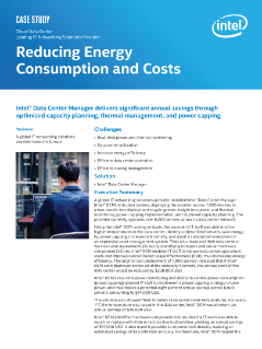 Cloud Data Center  Leading IT Networking Solutions Provider  Reducing Energy  Consumption and Costs  Case Study