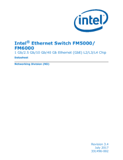 Intel® Ethernet Switch FM5000/FM6000 Datasheet