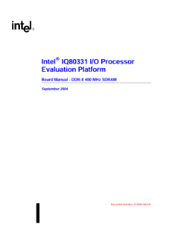 Intel® IQ80331 I/O Processor Evaluation Platform Board: Manual