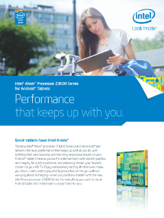 Intel Atom® Processor Z3000 Series for Android* Tablets