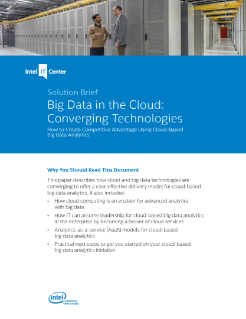 Big Data Cloud: Converging Technologies