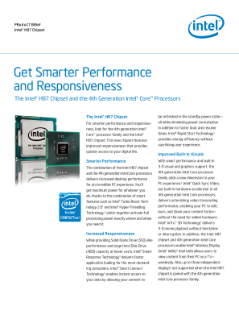 Get smarter performance and responsiveness