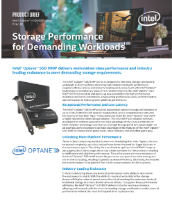 Intel® Optane™ SSD 900P Series Product Brief