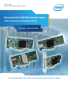 Intel® RAID Controllers RS3 Deliver Higher Storage Performance
