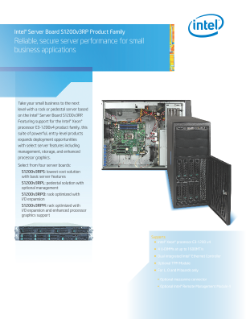 Intel Server Board S1200v3RP Product Brief