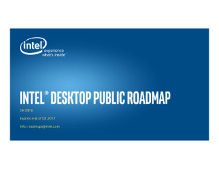 Intel Public Roadmap: Desktop, Mobile, Data Center