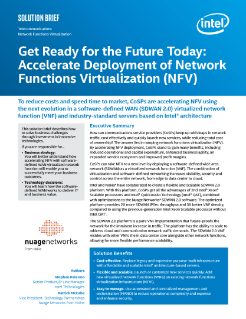 Accelerate Deployment of NFV for CoSPs