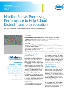 Boosting Processor Performance Improves Education Database