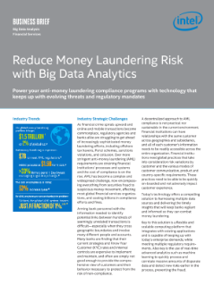 intel cloudera and sas financial services anti money laundering