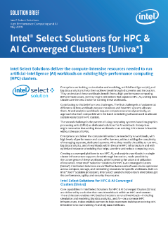 Intel Select Solutions for HPC & AI Converged Clusters [Univa]