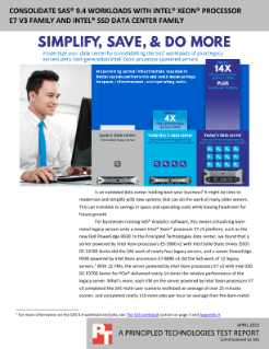 Consolidate SAS* 9.4 Workloads with Intel® Xeon® Processor E7 V3