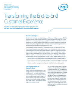 Transforming the End-to-End Customer Experience