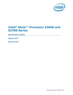 Intel Atom® Processor Z3600 and Z3700 Series Specification Update