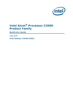 Intel Atom® Processor C2000 Product Family Specification Update