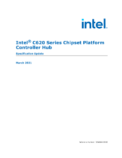 Intel® C620 Series Chipset Specification Update
